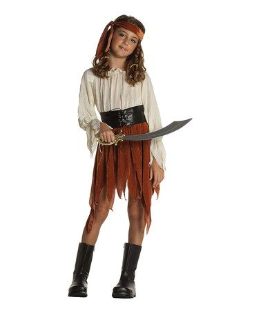 Take a look at this Rust & Ivory Pirate Girl Dress-Up Outfit - Girls by RG Costumes on #zulily today!