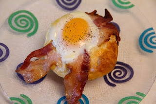 Savory Bacon & Egg Cupcakes!  Super simple breakfast!  Delicious and easy way to serve a group!