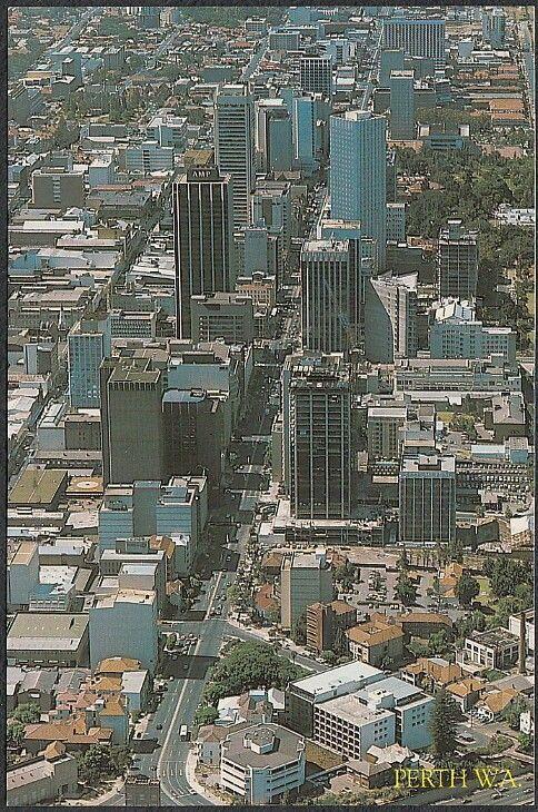 Perth Postcard St Georges Terrace