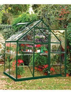 Small Greenhouse Kit | Polycarbonate Greenhouse with Galvanized Steel Base