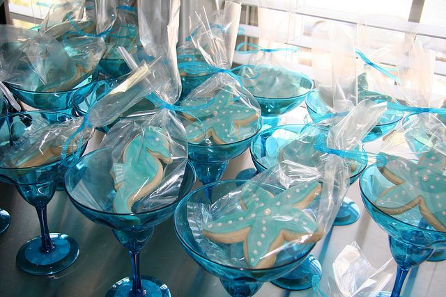 bridal shower theme beach | Beach Themed Bridal Shower Cookies | Flickr - Photo Sharing!