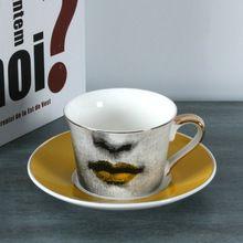Вся Европейская форназетти золотой кубок чашки кофе кружева золотой блюдо луиза bookface свадьба день рождения подарок чай стекло украшение до...(China)
