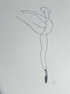 Dibujo chica ballet