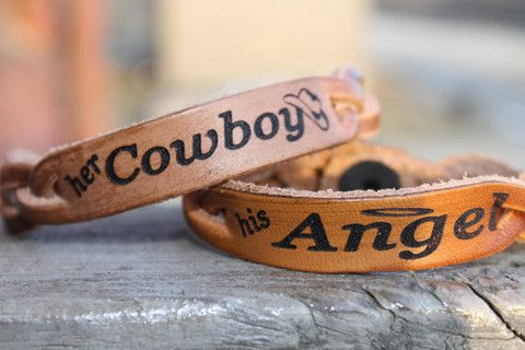 Her Cowboy, His Angel Bracelets - Six Shooter Gifts