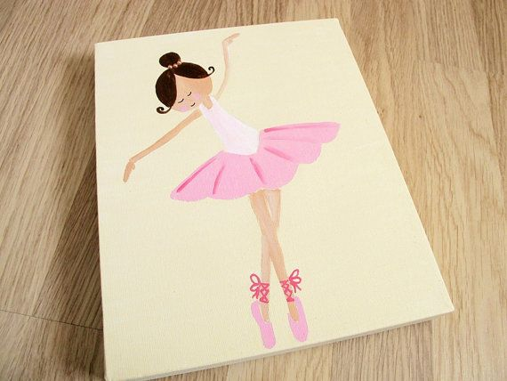 Kids wall art 3 ballerinas canvas paintings for girls room children decor kid 3 and for Canvas prints childrens bedrooms