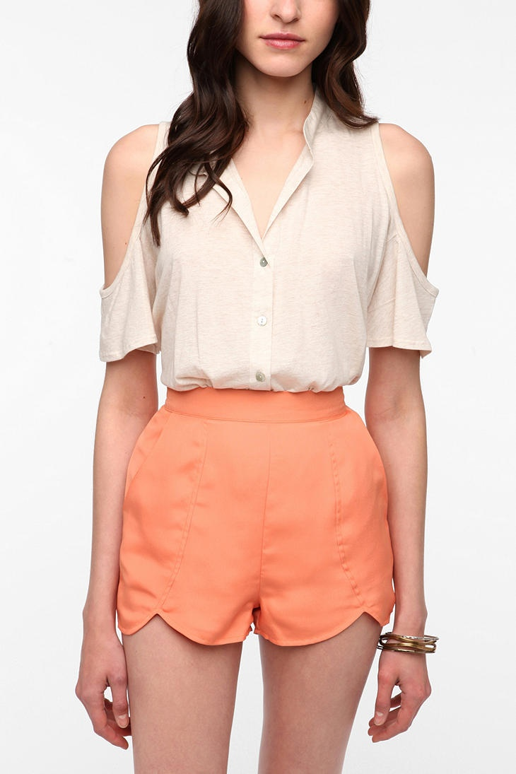 """Staring at Stars Cold Shoulder Knit Top -- """"A summer essential, definitely recommend it."""""""