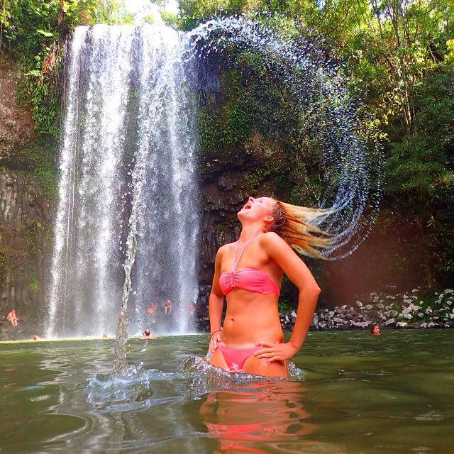 Wish you were here?! Tag a friend who would love to try the classic ' hair flick' pose at the gorgeous Millaa Millaa Falls! Or share your hair flick photos using #barefoottours !!
