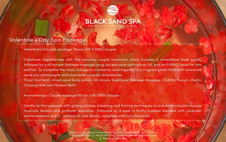 Pamper yourself and your loved one with our Black Sands Spa valentine's package. https://goo.gl/hSiWJq