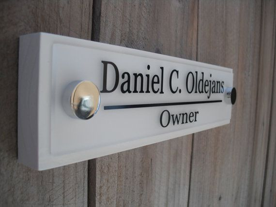 Office Door Name Plate Personalized Wood Door Sign Professional Gift 10x2.5 on Etsy, $21.99