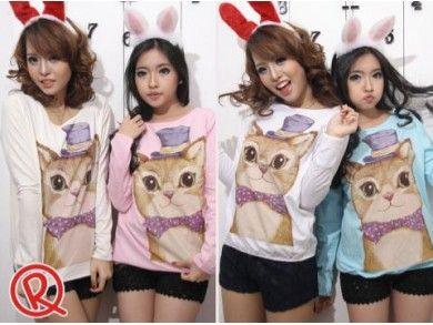 ORE Cat T-Shirt.  Bahan: Kaos  Lebar Bahu: 43 cm  Lingkar Dada: 100 cm  Lingkar Lengan: 40 cm  Panjang Lengan: 54 cm  Panjang Baju: 59 cm  Berat: 0,17 kg
