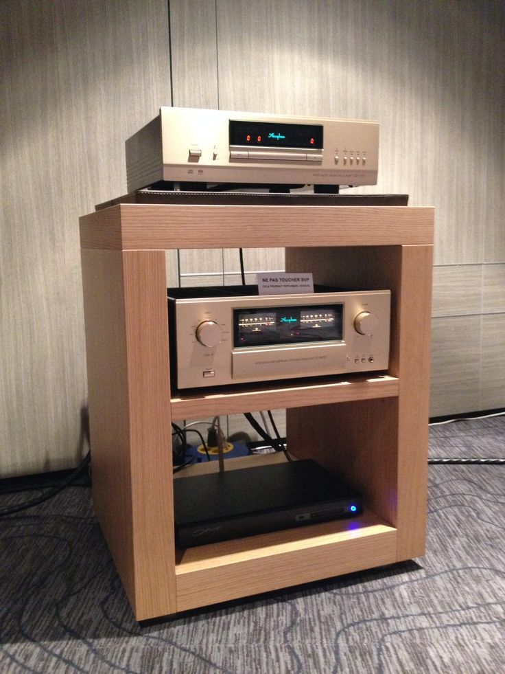 Another View Of Zen Line Shia Natural Oak With Accuphase In Paris Hamysound Audio Rackhifi
