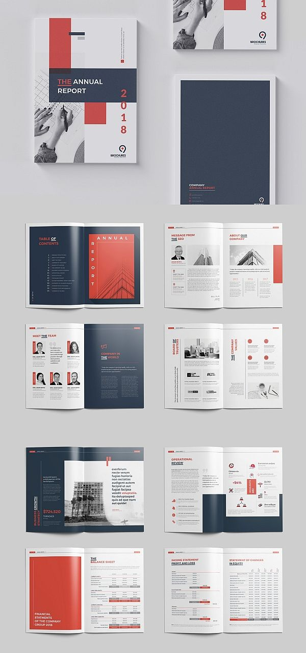 Annual Report 24 Pages Book Design Layout Brochure Design