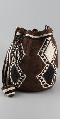 Wayuu Taya Foundation  Susu Bag  Style #:WAYUU40039  $175.00  $122.50 (30% off): Brown/Black