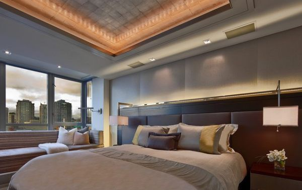 An elegant bedroom with contemporary lighting | Bedrooms Contemporary and Spaces : lighting for bedrooms - azcodes.com
