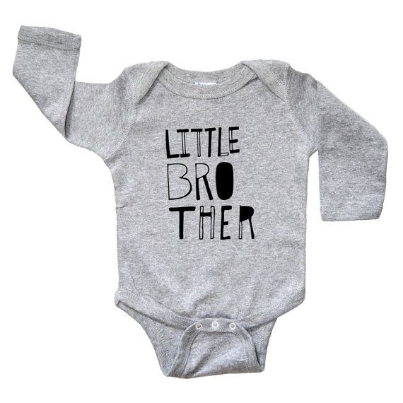 Little Brother Baby Shirt  Long Sleeve Baby Boy by theKidsNextDoor