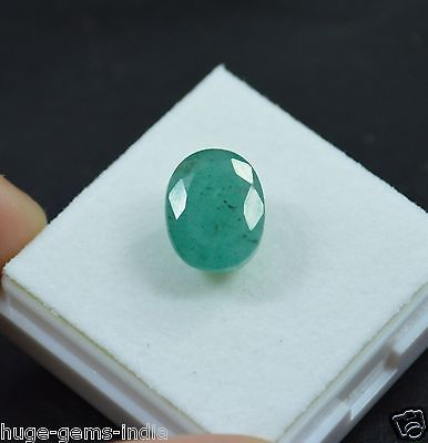 Lab-Certified 6.95 Ct Oval Cut Natural Zambian Rare Green Emerald Gem_For Ring.. USD 14.99