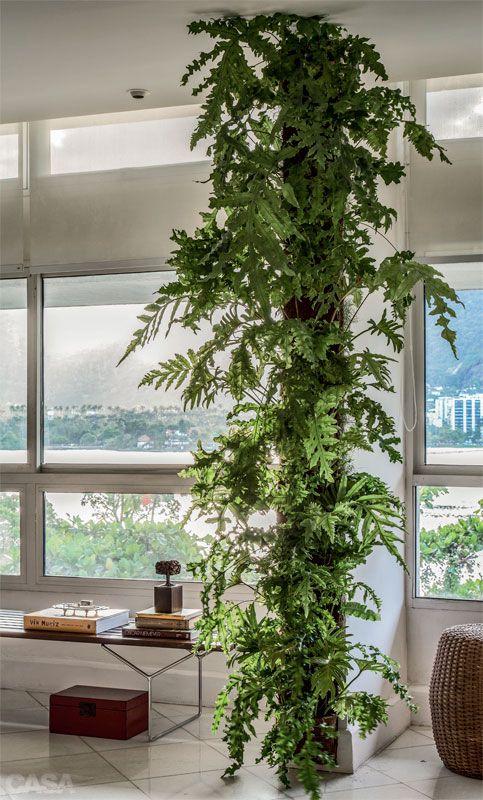 Coluna com jardim vertical
