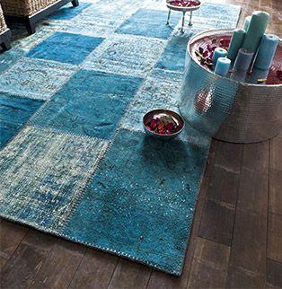 bleu patchwork vintage patchwork aïe le artisanal patchwork bleu ...