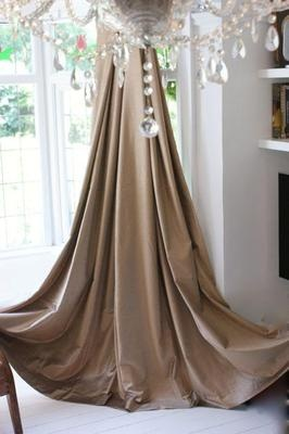 Gold/Bronze Velvet Curtains