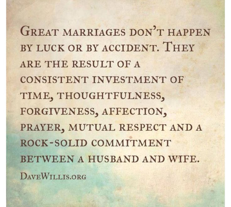 Great marriages