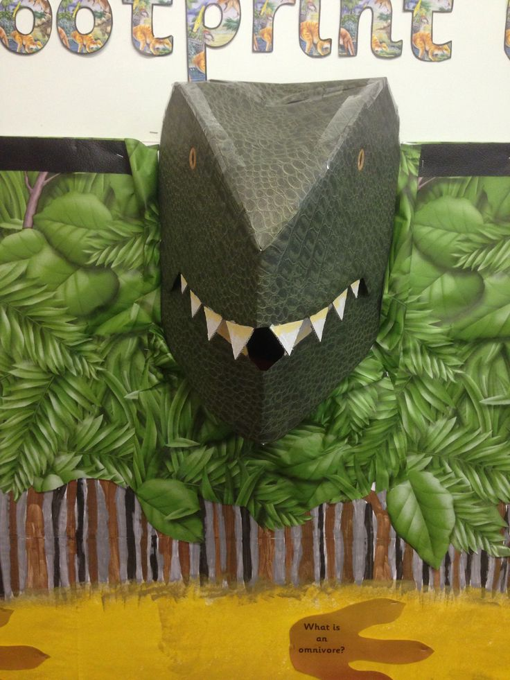 Pop out dinosaur display for my Y1 class. 3D dinosaur. KS1 classroom display.