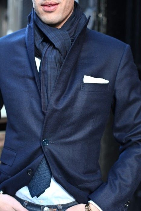navy x navy: Menfashion, Fashion Style, Street Style, Men Style, Blue Blazers, Men Fashion, Pockets Squares, Style Men, Feelings Blue