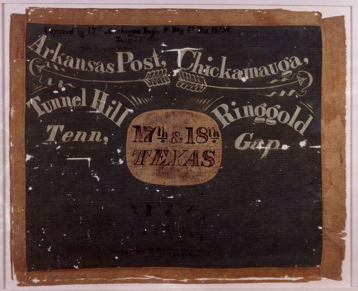 17th and 18th Texas cavalry battle flag.