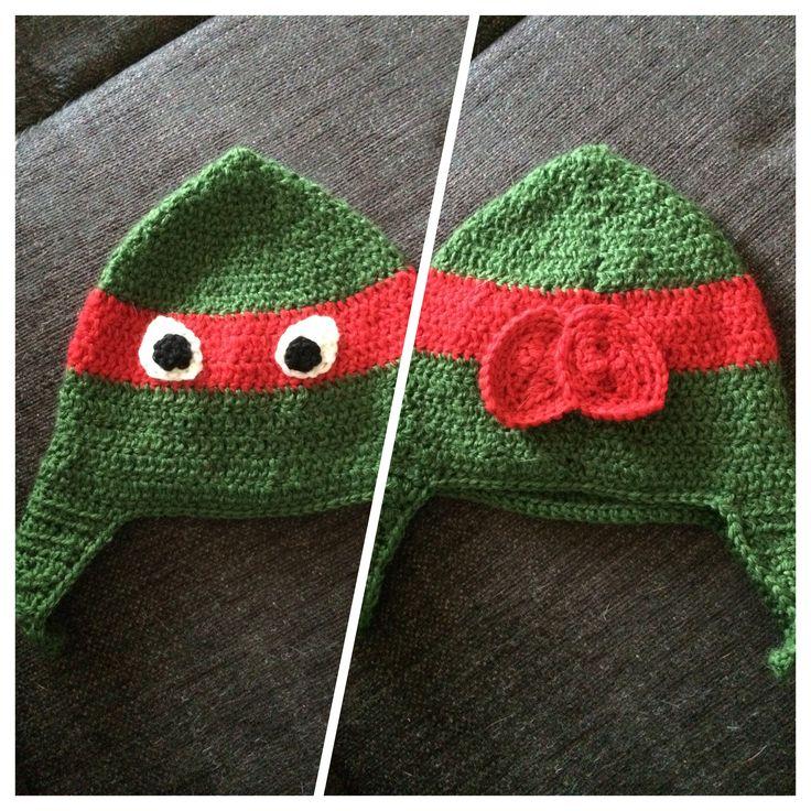 Crochet turtle hat