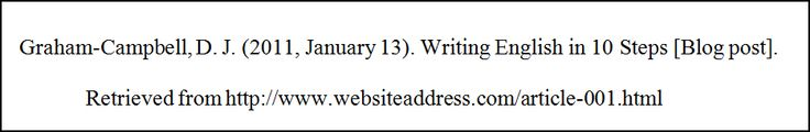 CITING FROM BLOG POST IN APA STYLE SAMPLE