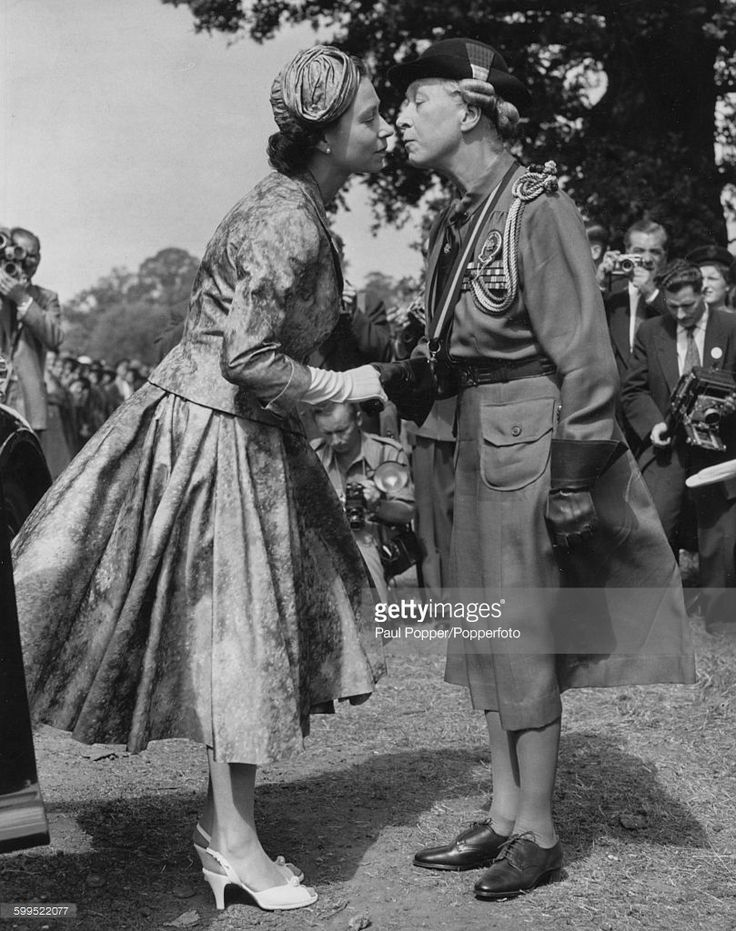 Princess Mary Countess of Harewood   Queen Elizabeth II is greeted by Mary, Princess Royal and Countess of ...