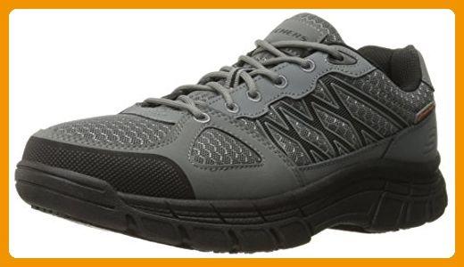 Skechers for Work Men's Conroe Dierks Work Shoe, Gray, 8.5 M US