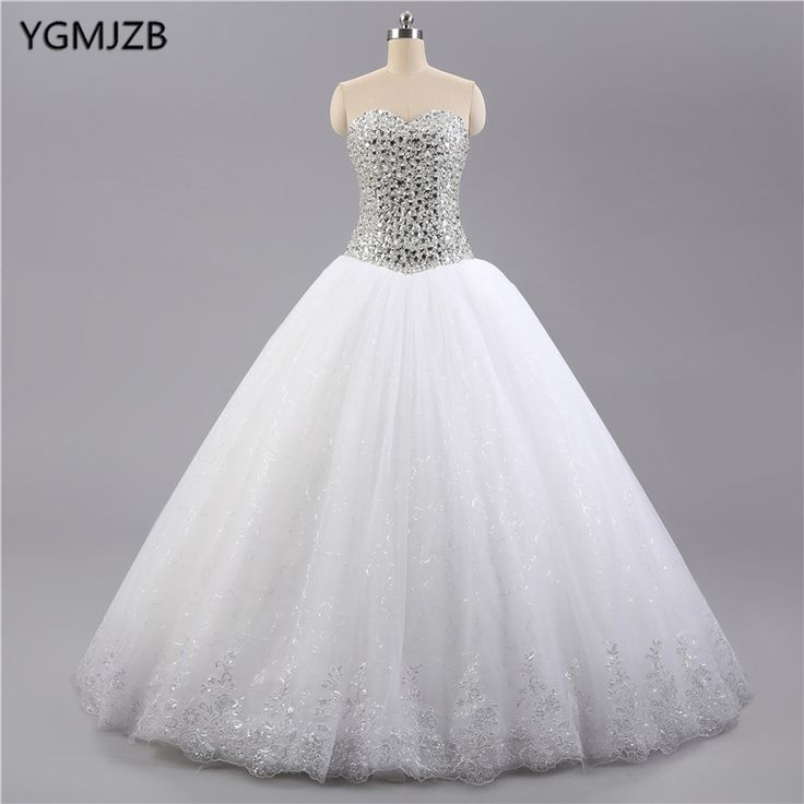 Find More Wedding Dresses Information about Luxury Crystails Top Lace Wedding Dresses 2017Ball Gowm Sweetheart Trouwjurk Bridal Gown Vestido De Noiva Plus Size,High Quality vestido de noiva,China vestido de noiva plus Suppliers, Cheap de noiva from Shop1404230 Store on Aliexpress.com