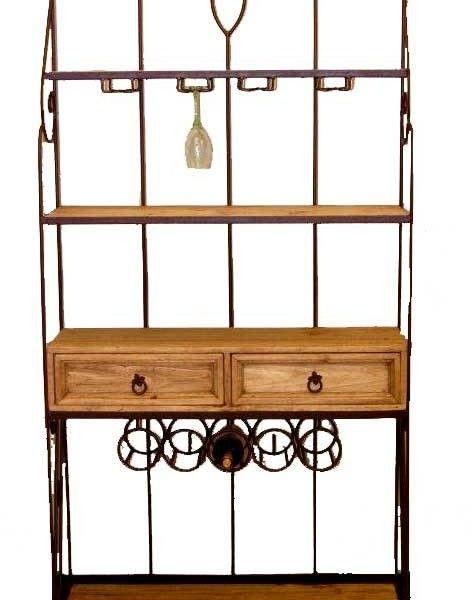 Elegant Wrought Iron Corner Cabinet