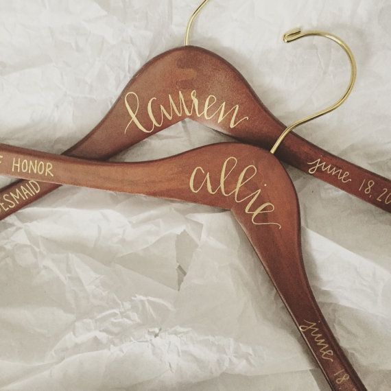 set of 8  custom hangers  bridesmaid gift by letterallycrafts                                                                                                                                                                                 More