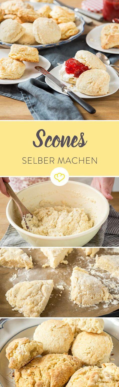Die traditionellen Scones kommen aus England, die moderne Variante aus Amerika. Was der Unterschied zu Biscuits ist? Ihre blätterteigähnliche Struktur.
