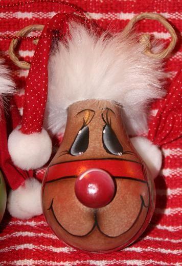 Lightbulb Reindeer Ornament