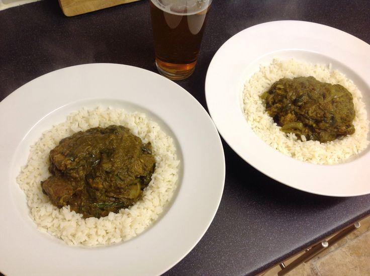 Lamb Saag, Hairy Bikers recipe. Amazingly delicious!