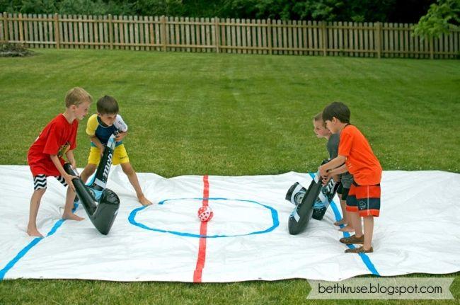 Boys Hockey Themed Birthday Party Game Ideas