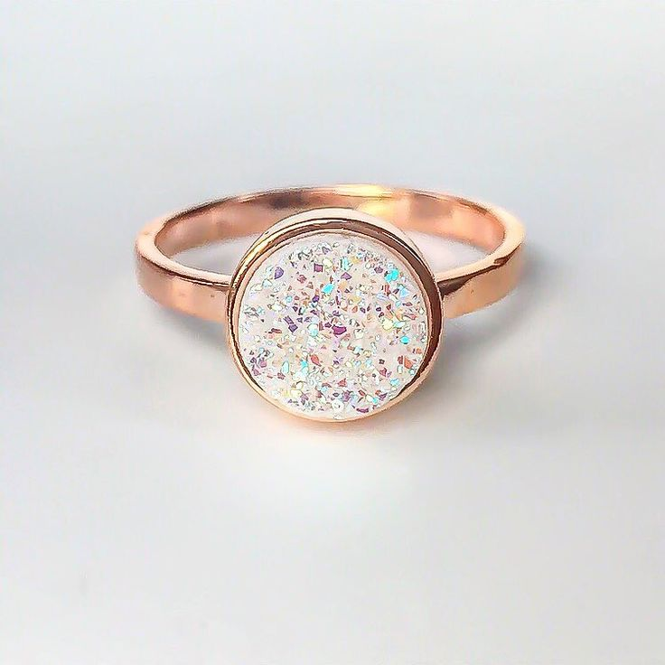 """It's back  Rose Gold and Druzy Quartz Ring ✨ Available in our 'Gems and Stones' Collection  #rosegold #rosegoldring #druzy #druzyring"""