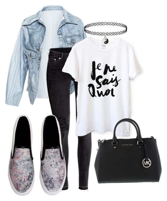 """""""Denim and Flats 2"""" by theyoumi ❤ liked on Polyvore featuring Faustine Steinmetz, H&M, women's clothing, women's fashion, women, female, woman, misses and juniors"""