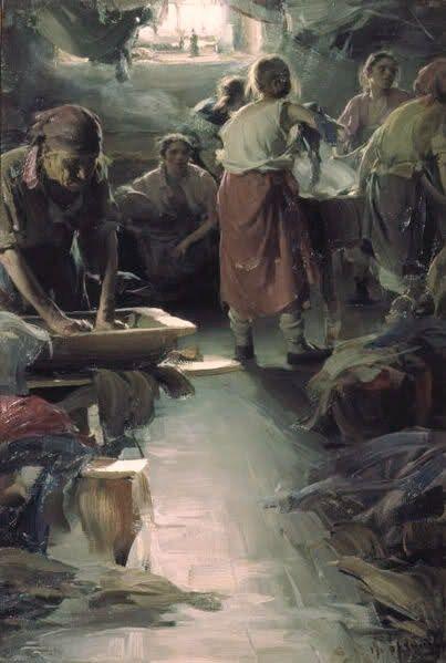 Abram Efimovich Arkhipov (Russian artist, 1862-1930) Washer Women