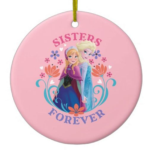 Anna and Elsa Sisters Forever Christmas Ornament #Disney #Frozen