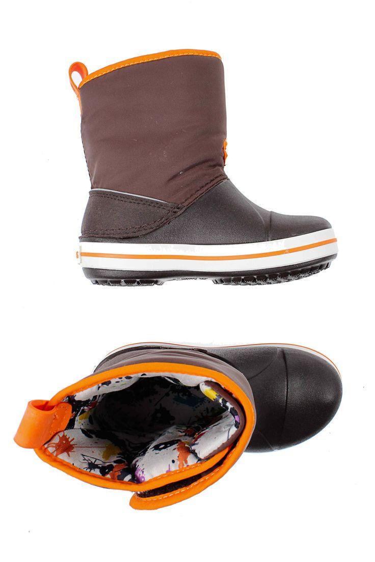 Ботинки CROCS - коричневый цвет - материал Другие материалы