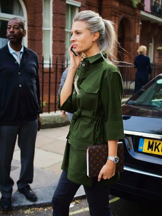 Street Muses...Sarah Harris...Paddington Green, London. Sarah Harris of Vogue // Louis Vuitton Desk Agenda Planner