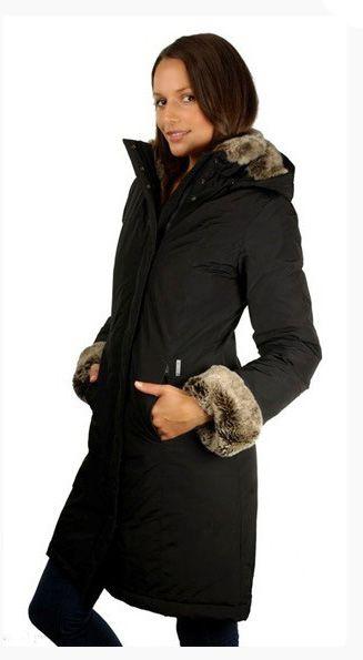 Woolrich Arctic luxe Boulder Manteau noir de dames 01