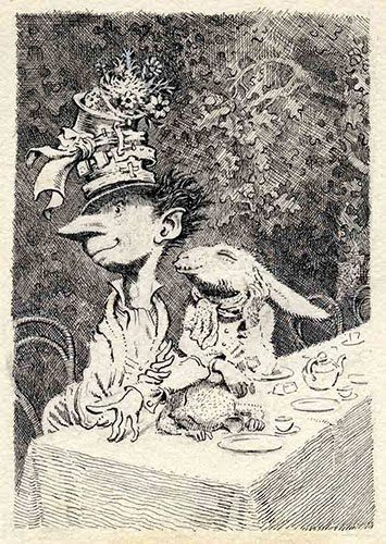 mervyn peake - his illustrations for alice are truly fantastic