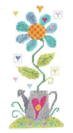 Crazy daisy cross stitch - Lots of cool, fun cross stitch kits here...
