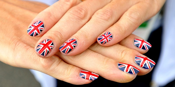 Britain's Union flag is painted onto the fingernails of Great Britain Olympic archer Alison Williamson at the London 2012 Olympic Village in east London, on July 20, 2012. (John Stillwell/AFP/GettyImages)