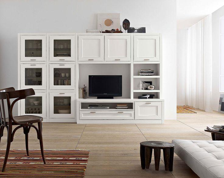 Composizione per il #soggiorno collezione Florian in finitura laccato consumato | gruppotomasella.it