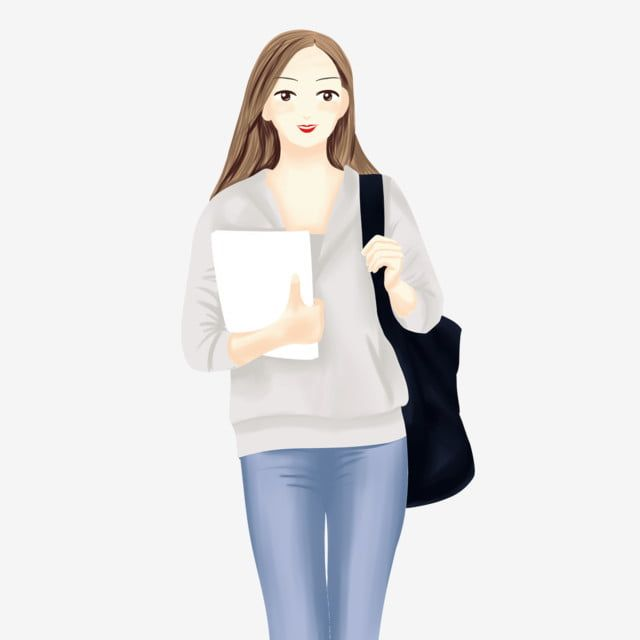 School Season School Starts Starting School Female College Student The University Going To College Character Png Transparent Clipart Image And Psd File For F In 2021 Starting School College Students Student